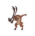 elk standing in dub dancing pose cute cartoon vector image vector image