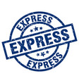 express blue round grunge stamp vector image vector image