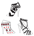 female summer heels vector image vector image