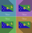 Flags Christmas Island Set of colors flat design vector image