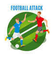 football attack round design concept vector image vector image