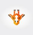 giraffe geometric face icon vector image