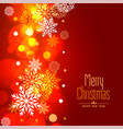 glowing merry christmas snowflakes holiday vector image vector image