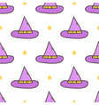 Halloweeen witch hat seamless pattern background vector image vector image