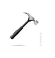 Hammer and nail vector image vector image