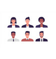 happy business people portrait set isolated vector image