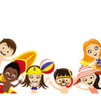 happy kids on a white background vector image vector image