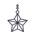 happy merry christmas hanging star decoration vector image vector image
