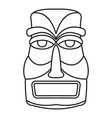 hawaii idol statue icon outline style vector image vector image