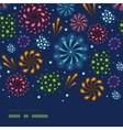 Holiday fireworks horizontal seamless pattern vector image