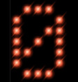 led digits 0 vector image vector image