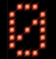 led digits 0 vector image
