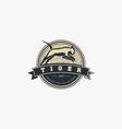 logo tiger jump vintage badge style vector image vector image
