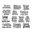 love reading book lettering phrases set vector image vector image