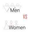 men vs women versus screen vector image vector image
