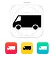Minibus icon vector image vector image
