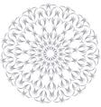 monochrome contour mandala vector image vector image