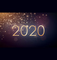 new year design with gold glitter and 2020 vector image