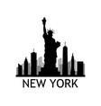 new york skyline vector image