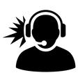Operator Signal Flat Icon vector image vector image