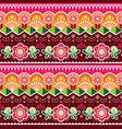 pakistani truck art seamless pattern vector image