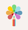 Pencil logo colored paint and icon vector image