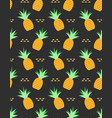pineapples tropical seamless pattern vector image vector image