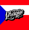 prague lettering poster for your design creative vector image