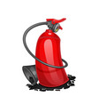 red cartoon fire extinguisher isolated on white vector image