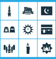 religion icons set collection of mosque vector image vector image