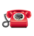retro phone isolated vector image vector image