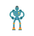 robot angry cyborg evil emotions robotic man vector image vector image