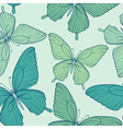 seamless background with blue butterflies vector image vector image