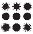 set black price tags on white background black vector image