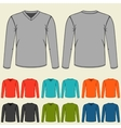 set colored long sleeve shirts templates vector image