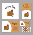 set corporate branding fresh belgian waffles vector image vector image