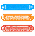 set of bright rectangular elements infographic vector image vector image