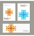 Set pattern with abstract figures brochures vector image vector image