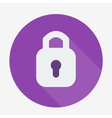 Single flat padlock icon with long shadow vector image vector image