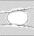 snatched middle of paper with torn edges vector image vector image