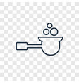 spoon concept linear icon isolated on transparent vector image