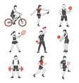 Sport People Icon Black vector image