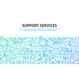 support services concept vector image vector image