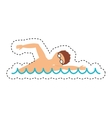 swimming competition sport icon vector image vector image