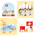 switzerland backgrounds collection vector image vector image