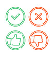 thin line check mark icons vector image