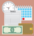 time for pay tax vector image vector image
