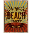Typographic SummerParty grunge retro poster vector image vector image