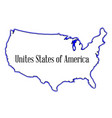 united states of america vector image vector image
