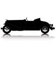 vintage convertible car vector image vector image